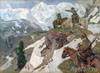 Choros-Gurkin Grigory. Altai hunters in the mountains. Art print on canvas