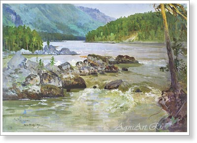 Choros-Gurkin Grigory. The Katun. Art print on canvas - paintings, sale