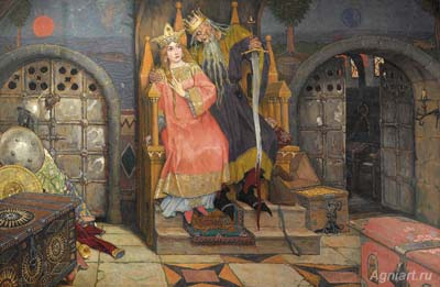 Vasnetsov Victor. Koshchei the Immortal. Fine art print A3
