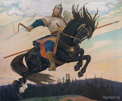 Vasnetsov Victor. Knightly galloping. Fine art print A3