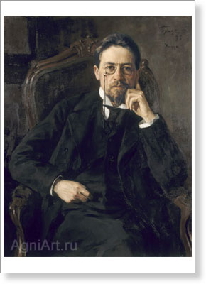 Braz Osip. Writer Anton Chekhov. Art print on canvas