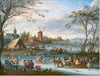 Bout Piter. Winter Landscape. Art print on canvas