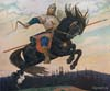 Vasnetsov Victor. Knightly galloping. Art print on canvas