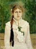 Vasnetsov Victor. Portrait of V.M. Mamontova. Art print on canvas