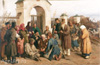 Vasnetsov Victor. Begging Singers. Art print on canvas