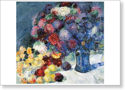 Anisfeld Boris. Still Life - Flowers and Fruit. Art print on canvas