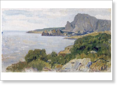 Surikov Vasily. Crimean Landscape. 1900s. Arn print on canvas