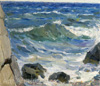 Surikov Vasily. The sea. An etude. Art print on canvas