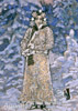 Vrubel Mikhail. Snow maiden. Fine art postcard A6