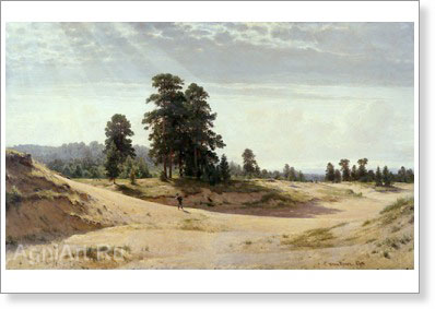 Shishkin Ivan. Sands. Art print on canvas