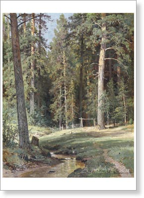 Shishkin Ivan. Edge of the Forest. Art print on canvas