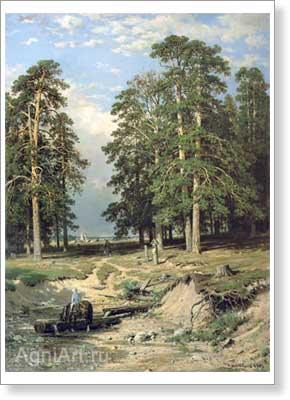 Shishkin Ivan. Holy Well near Yelabuga. Fine art postcard A6