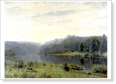 Shishkin Ivan. Foggy Morning. Fine art print B2