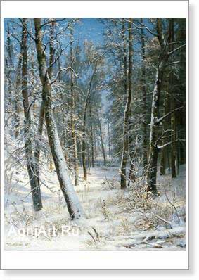 Shishkin Ivan. Winter in the Forest (Hoar). Fine art print A3