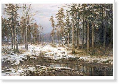 Shishkin Ivan. The First Snow. Fine art print B2