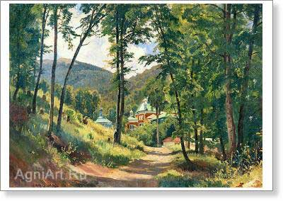 Shishkin Ivan. In the Crimea. Art print on canvas