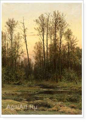Шишкин иван лес весной репродукция a3