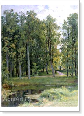 Shishkin Ivan. Forest Way. Art print on canvas
