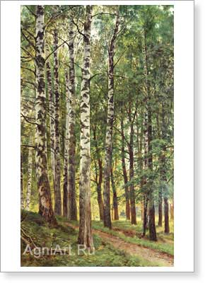 Shishkin Ivan. Birch Grove. Art print on canvas