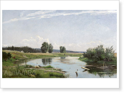 Shishkin Ivan. Landscape with the Lake. Art print on canvas