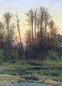 Shishkin Ivan. Forest in Spring. Art print on canvas