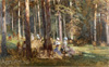 Shishkin Ivan. Picnic in a Pine Forest. Art print on canvas