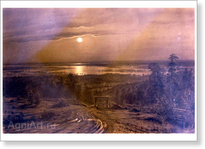 "Shishkin Ivan. ""The overflows of rivers reminding one of the seas"". Art print on canvas"