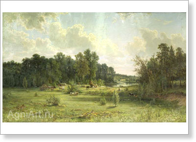 Shishkin Ivan. Coppice (Midday). Art print on canvas
