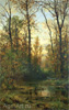 Shishkin Ivan. Forest Backwater - Autumn. Art print on canvas - paintings, sale