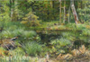 Shishkin Ivan. Spring in the forest. Art print on canvas