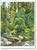 Shishkin Ivan. Forest River. Art print on canvas - paintings, sale of paintings