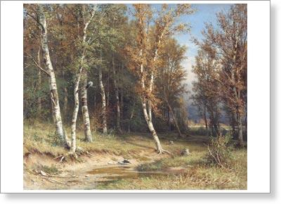 Шишкин иван лес перед грозой печать