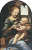 Leonardo da Vinci. Madonna with a Flower (The Benois Madonna). Art print on canvas
