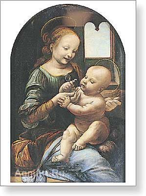 Leonardo da Vinci. Madonna with a Flower (The Benois Madonna). Fine art print A2
