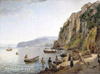 Shchedrin Sylvester. Small Harbour in Sorrento. Art print on canvas - paintings, sale