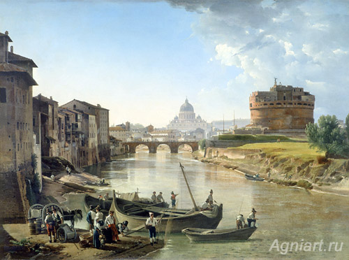 Shchedrin Sylvester. New Rome. Castle of the Holy Angel.  Art print on canvas