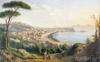 Shchedrin Sylvester. View of Naples from the road in Pozilippo. Art print on canvas
