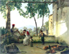 Shchedrin Sylvester. Verandah in Sorrento. Art print on canvas