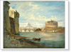 Shchedrin Sylvester. View of the Castle of Sant'Angelo. Art print on canvas