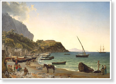 The Tretyakov Gallery. Shchedrin Sylvester. Big Harbour on the Island of Capri. Art print on canvas