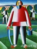 Malevich K. In the Hayfield. Fine art print B3