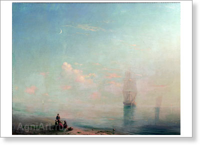 Sudkovsky Rufim. Morning in the Crimea. Art print on canvas