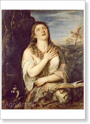 Titian. Mary Magdalene in Penitence. Fine art print A2