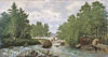 Vereshchagin Pyotr. landscape-The Kiumeni River. Art print on canvas