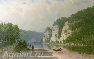 Vereshchagin Pyotr. Chusovaya River. Art print on canvas - paintings, sale of paintings
