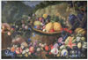 Michelangelo di Campidoglio . Fruit and Flowers.  Art print on canvas   - paintings, sale of paintings