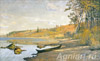 Vakhrushov Feodosy. Shallow water. The right bank of the river Sukhona. Art print on canvas - paintings, sale of paintings