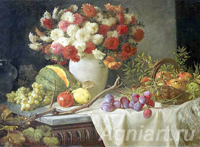 Sverchkov Vladimir. Flowers and Fruit. Fine art print A3