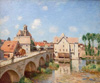 Sisley Alfred. Bridge in the sea. Fine art print A3