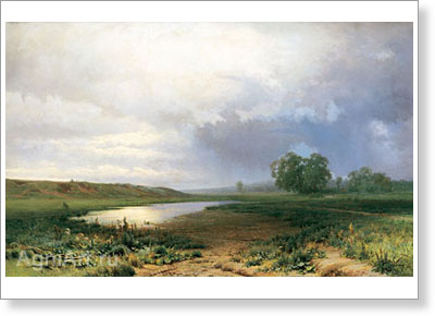 Vasiliyev Fyodor. Wet Meadow. Art print on canvas
